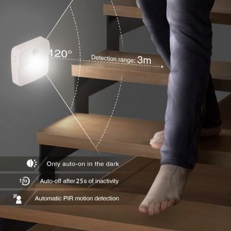 CHIC2: 2 LED motion sensor lamp, battery operated IL11EVO2 Velamp Closet lights