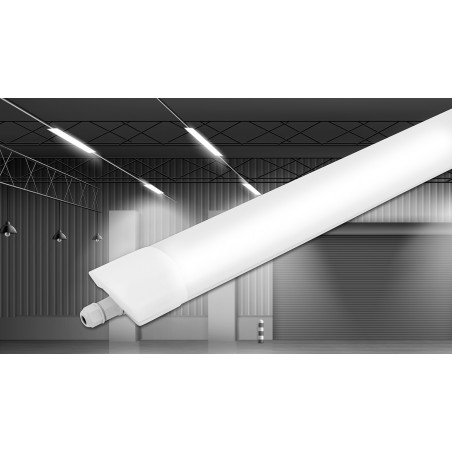 STARLED: Plafoniera stagna LED integrati, 150 CM 6000LM STARLED258 Reglettes stagne Velamp