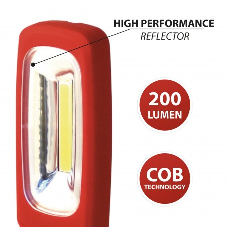 COB LED work light with magnet and hook IS463 Velamp LED flashlights