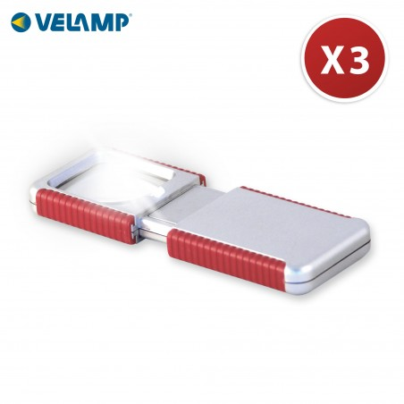 SHERLOCK: lente d'ingrandimento LED, x3, pila inclusa IN281 Lampade con lente Velamp