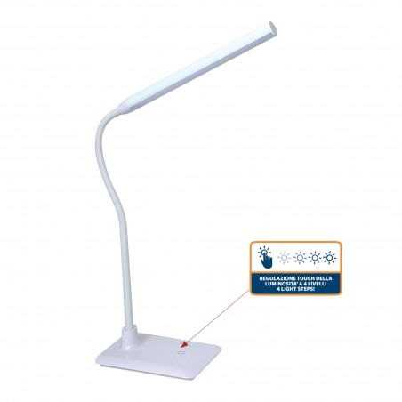 SLIM: 6W LED table lamp. White TL1606B.004S Velamp Desk lamps