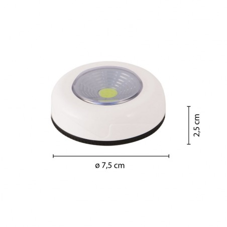 MINI PUSH LIGHT 3 LED, rund IL12 Schranklichter Velamp