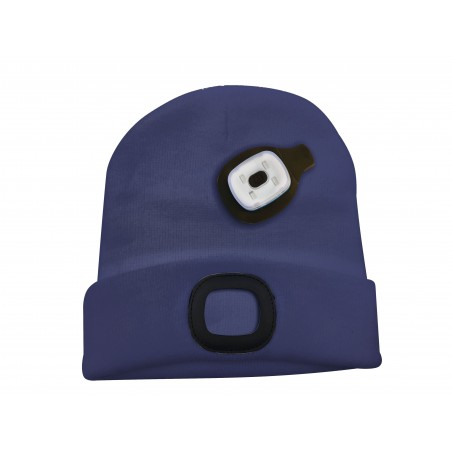 Capellino con luce frontale torcia led ricaricabile blu CAP04 Cappellini led Velamp
