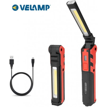KUBRIK: rechargeable inspection lamp + flashlight. Multifunction IR439 Velamp LED flashlights