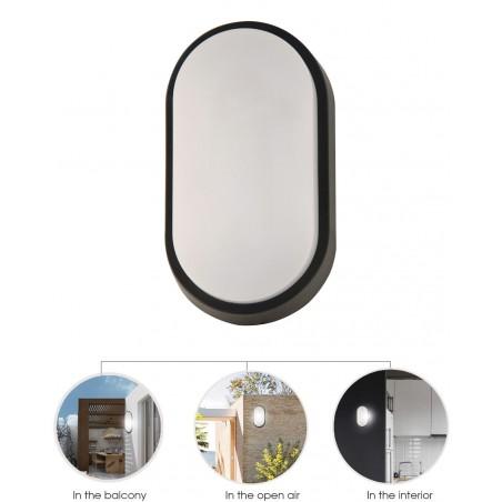 14W LED plastic bulkhead. 1000 lumen. Contains 2 covers (black & white). IP54 TARTARUGA-XL2 Velamp Bulkheads