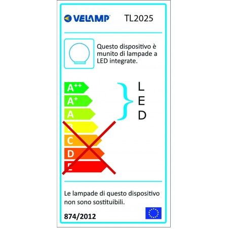 Palla led rgb ricaricabile con usb diametro 25 cm nova TL2025 Luci decorative per il giardino Velamp