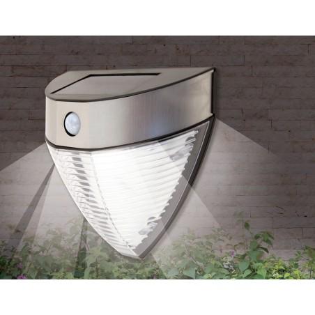 Applique led solare 200 lumen con rilevatore di movimento armour SL235 Luci solari Velamp