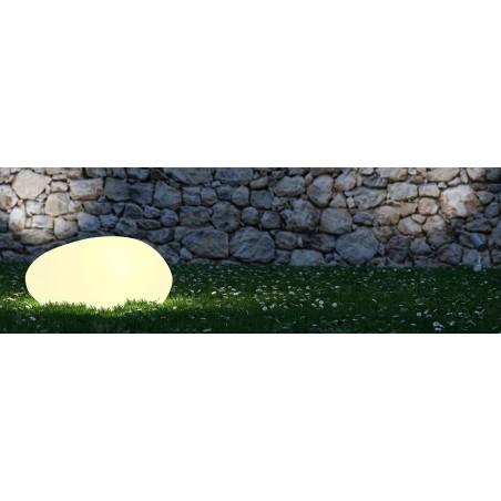SOLAR STONE: Sasso luminoso RGB a ricarica solare. Telecomando SL561 Luci decorative per il giardino Velamp