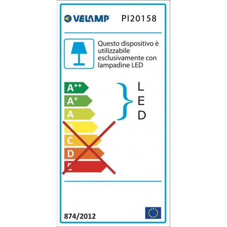 Plafoniera per 1 tubo led t8 150cm da interno PI20158 Reglettes per tubi led t8 Velamp