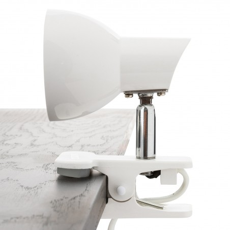 CHARLY: 24 LED spotlight with clip. 5W, 360 lm, 4000K. White TL1401-B Velamp Lamps with clip
