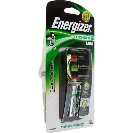 ENERGIZER battery charger with 2 HR6 (AA) batteries NCBT07 Velamp Pile Energizer