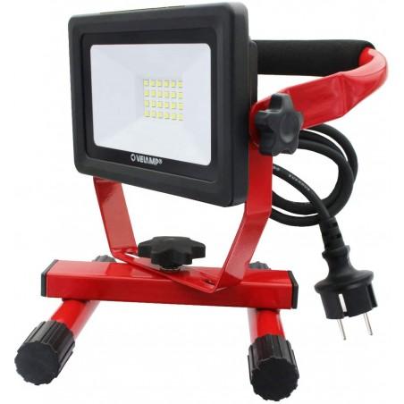 LIGHT PAD : Arbeitsleuchte LED SMD 20W IP65, schwarz mit 6500K und 1,5 m Kabel IS750-3 Strahler mit Stützen Velamp