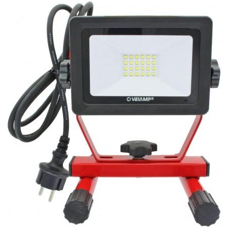 LIGHT PAD :projecteur LED, 20W 1600 lumen, IP65, noir. Câble 1,5 m IS750-3 Projecteurs sur support Velamp