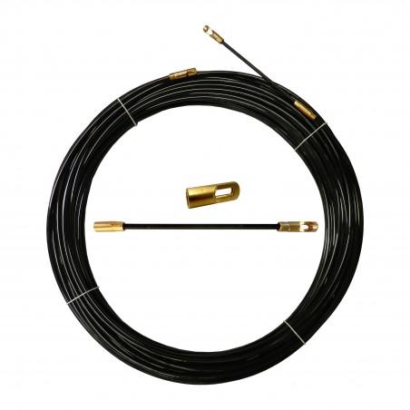 Sonda tiracavi in nylon diametro 4 mm 15 metri con terminali intercambiabili nero SYN4-015 Sonde uso civile Stak