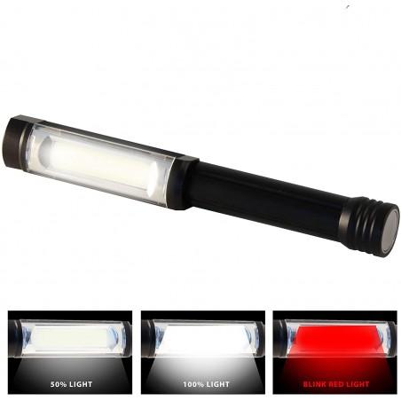 BIG DADDY: Linterna de aluminio COB 3W + flash rojo. Magnete iper potente IN256 Velamp Linternas LED