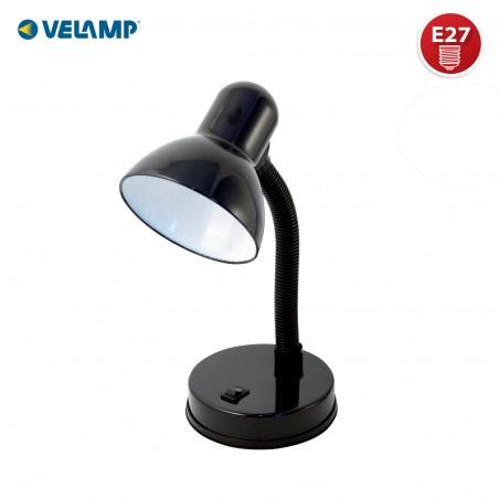 CHARLESTON: Lampada da tavolo nera con attacco E27 TL1201-N Lampade da scrivania Velamp