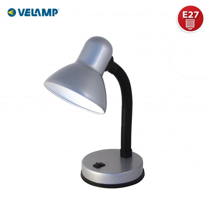 CHARLESTON: E27 table lamp. Silver TL1201-S Velamp Desk lamps