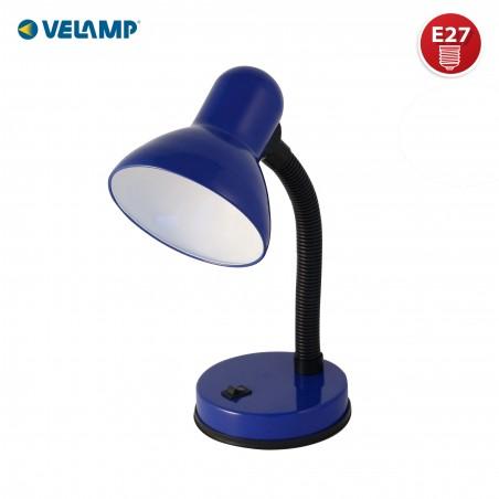 CHARLESTON: Schreibtischlampe mit Sockel E27, blau TL1201-U Schreibtischlampen Velamp