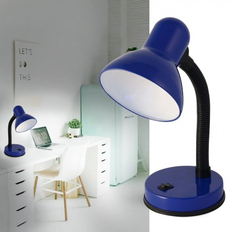 CHARLESTON: E27 table lamp. Blue TL1201-U Velamp Desk lamps