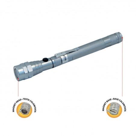 Torcia da ispezione 3 LED, estensibile e snodabile. Con magnete IF06B.012L Luci di ispezione Velamp Basics