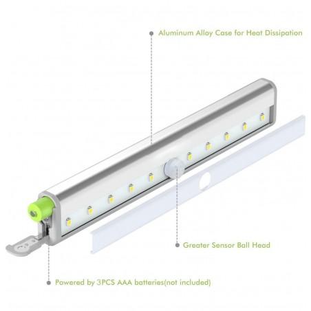 Mini reglette led cob con rilevatore di movimento smarty LT011 Luci per armadio Velamp