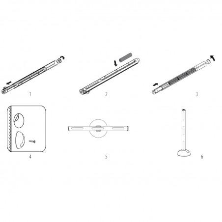 SMART LIGHT: 6 LED mini bar light. Alu body + adjustable bracket IL24WS Velamp Closet lights