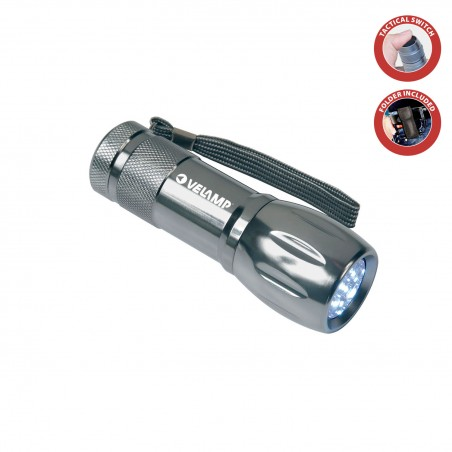 Torcia led in alluminio 9 led con astuccio adventure IN240.006L Torce Led Velamp