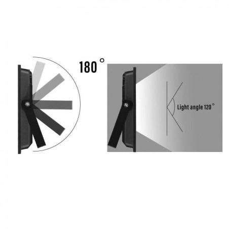PADLIGHT5, 20W SMD LED Flutlicht IP44, schwarz 4000K. Mit IR IS748-5-4000K LED-Außenstrahler Velamp