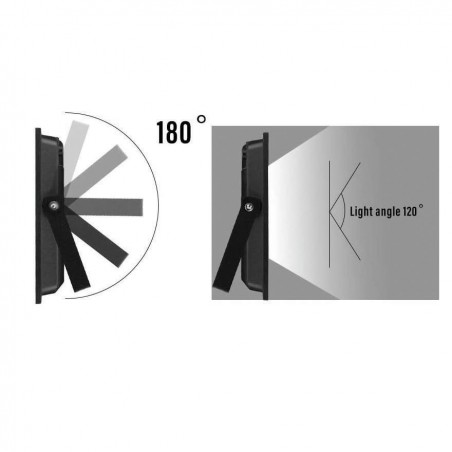 PADLIGHT5, 30W IP65 SMD LED Flutlicht, schwarz 6500K IS755-5-6500K LED-Außenstrahler Velamp