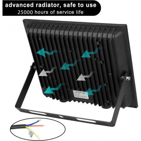 PADLIGHT5, projecteur LED SMD 30W IP65, noir 4000K IS755-5-4000K Projecteurs d'extérieur Velamp