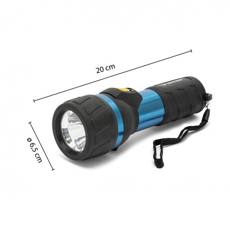 Torcia led 3w 2d in alluminio e rubber impulse IP06 Torce LED Velamp