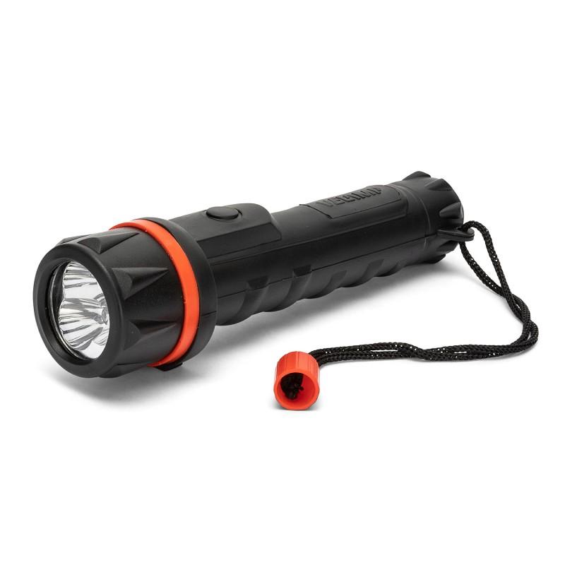 Torcia led rubber: torcia in gomma led 2aa IRUB1LED Torce LED Velamp