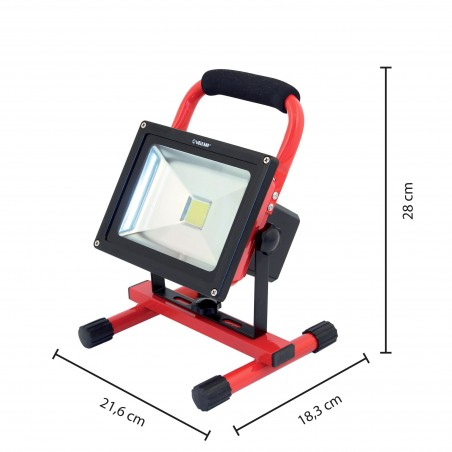 CYCLOP: rechargeable 20W LED worklight. With AC/DC function IR867 Velamp Rechargeable spotlights