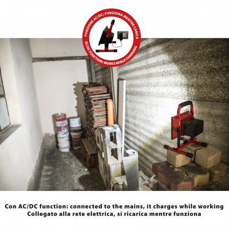 CYCLOP: worklight LED COB 20W recargable IR867 Velamp Faros recargables