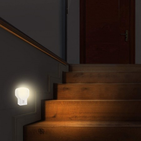 TWILIGHT: Punto luce LED con interruttore ON/OFF IL09LED.012L Luci notturne Velamp