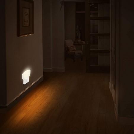 TWILIGHT: Veilleuse LED avec interrupteur ON/OFF. Prise Verticale IL09LED.012L Veilleuses Velamp
