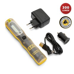 COMBO LIGHT2: Worklight + torcia ricaricabile LED. Gancio e calamita IS409 Torce e luci da lavoro per il professionista Stak