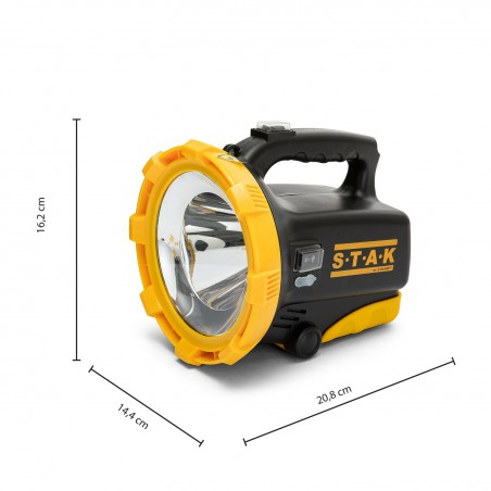 TRAINSPOTTING: 20W LED rechargeable spotlight. Red blink, USB powerbank R920.006S Stak Jobsite spotlights