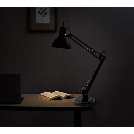"""CHARLESTON: Lampada da tavolo """"architetto"""" , nera, attacco E27 TL1207-N Lampade da scrivania Velamp"""