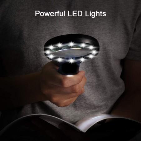 LINX LED: loupe avec 12 LED IN287.012E Lampes avec loupe Velamp