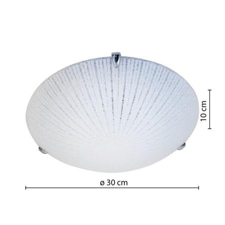 VEGA: Plafón de vidrio, diámetro 30cm, E27 PT331 Velamp Plafones de cristal E27