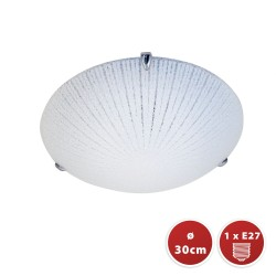 Plafoniera in vetro diametro 30cm 1xe27 vega PT331 Plafoniere e27 in vetro Velamp