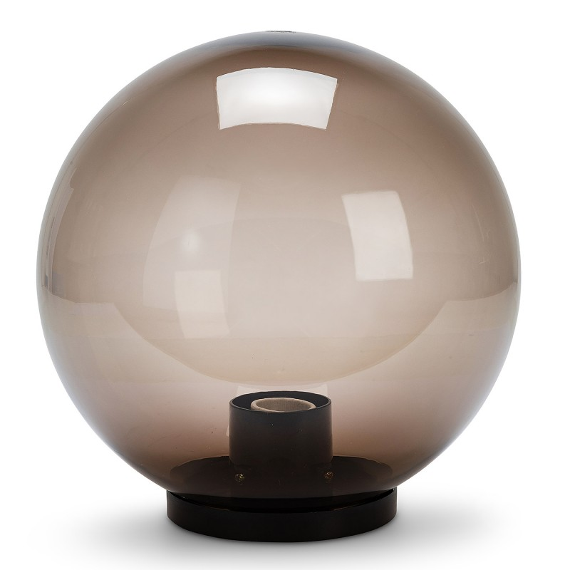250 mm outdoor globe, PMMA, E27, smoked SPH258 Velamp APOLUX amber globes