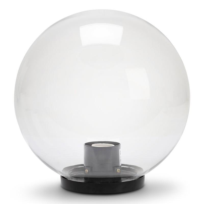 250 mm outdoor globe, PMMA, E27, transparent SPH255 Velamp APOLUX transparent globes