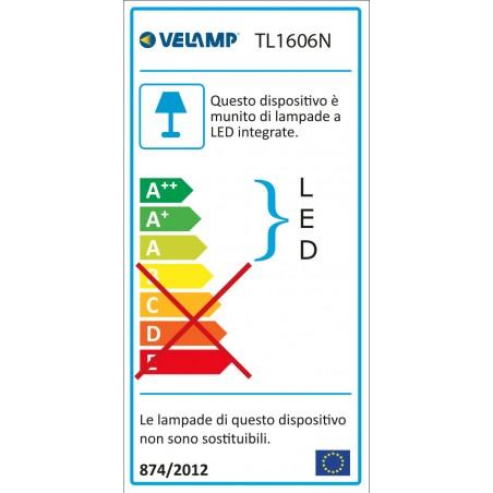 Lampada da scrivania led 6w interruttore touch slim nero TL1606N.004S Lampade da scrivania Velamp