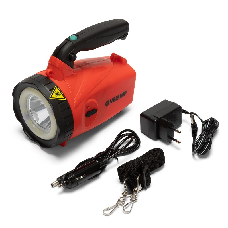 SUPER HORNET: 5W rechargeable spotlight + COB crown IR558 Velamp Jobsite spotlights