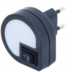 Dropled led night light with on/off switch dark grey