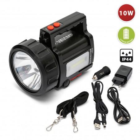 DOOMSTER TREKK: Proyector recargable anti blackout LED CREE 10W 735 lumen+ Luz lateral + power bank IR666-10W.006S Velamp Luc...