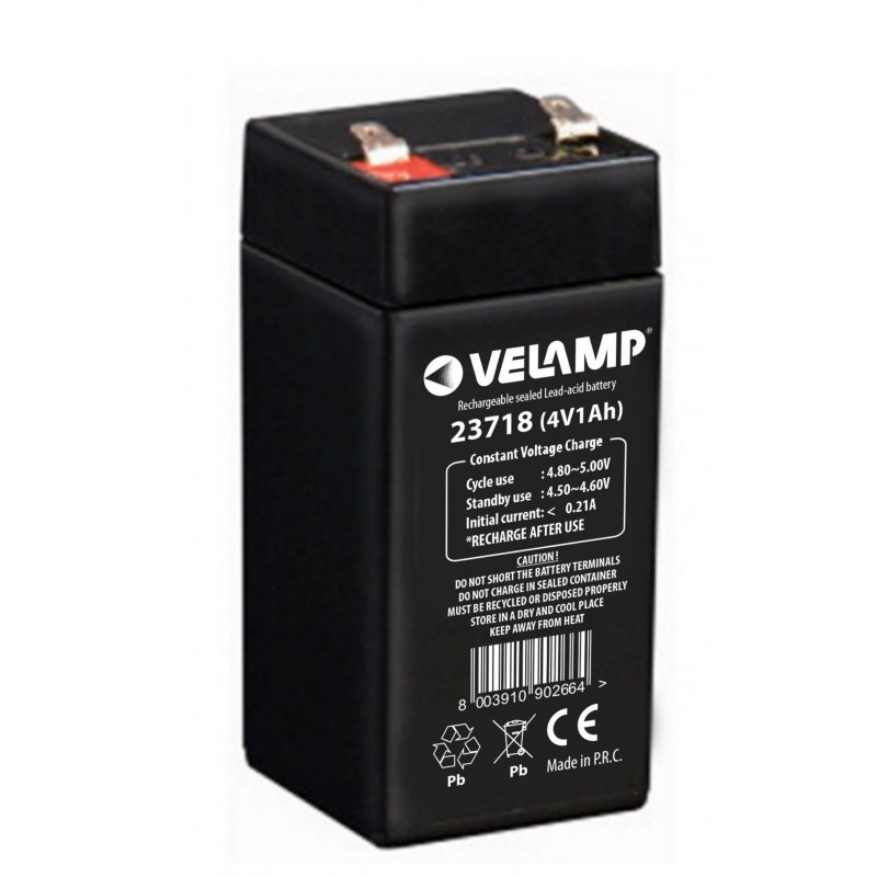 4v 1ah rechargeable lead acid battery
