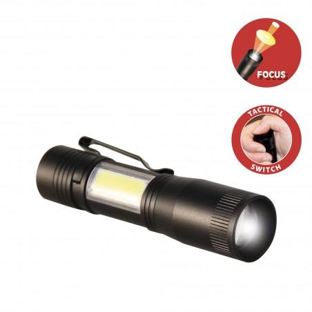THOR : Taschenlampe und Leuchte LED. Mit Zoom. D89 LED Taschenlampen Velamp